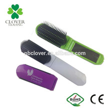plastic material profile folding comb with mirror