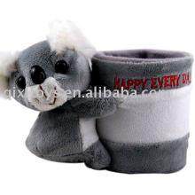 Porte-crayon koala en peluche et peluche
