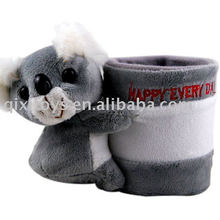 Porta-lápis Koala de pelúcia e pelúcia
