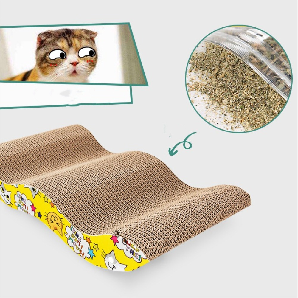 s shaped cat scratching board