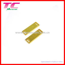 Shiny Gold Metal Plate for Swimwear