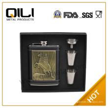 Acier inoxydable Hip Flask Gift Set