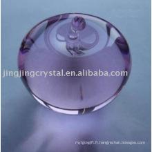 Beau cristal Apple Crystal Glass Purple Apple pour cadeau