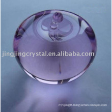 Lovely Crystal Apple Crystal Glass Purple Apple for Gift