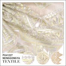 Oem service Pas cher polyester brodé de luxe tissu pour la robe