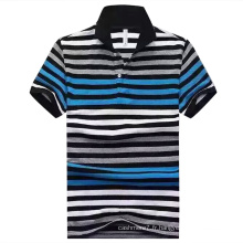 OEM Polo Stripe Casual Polo Casual pour homme