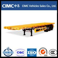 Cimc Tri-Axle 40 Tons Flatbed Trailer Truck