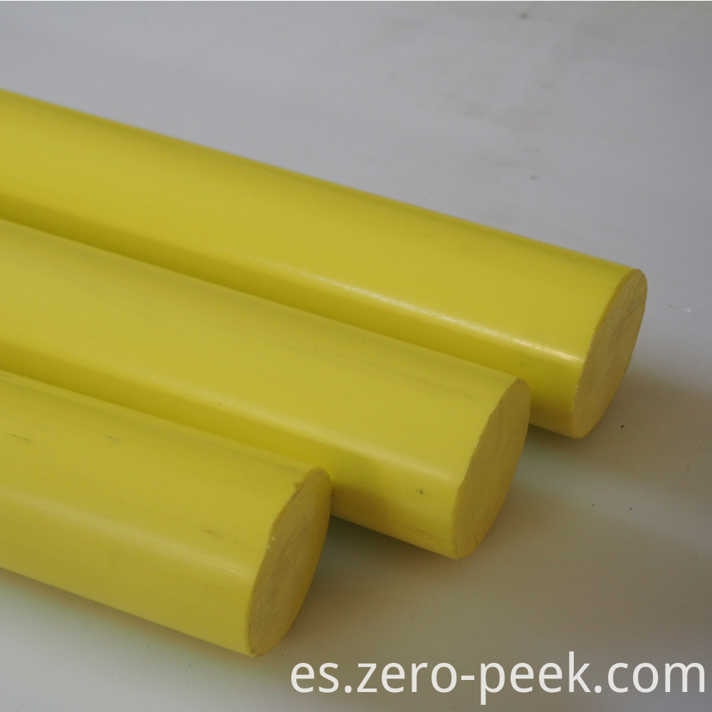 Yellow color delrin rod
