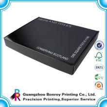 Cartón brillante con logotipo personalizado Corrugado reciclar cable digital Caja negra