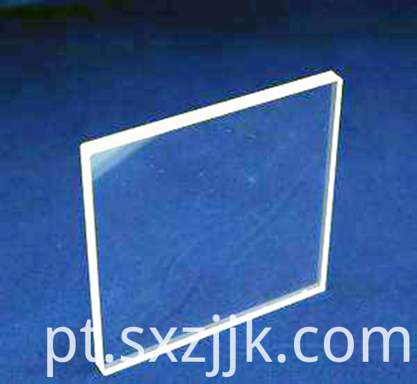 clear glass lens or window