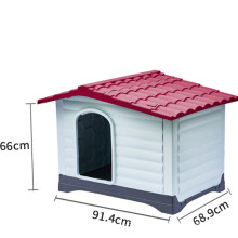 Amazon new product large dog windproof and rainproof outdoor pet warm plastic without iron door dog house