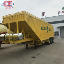 Van Bulk Soybean Corn Transport Semi-remorque