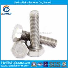 Stock DIN933 304 / A2-70 / A4-70 Boulon hexagonal en acier inoxydable