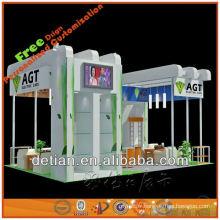 Le stand de salon d'exposition montre des approvisionnements avec le stand fait sur commande de stand et de stalle pour la foire d'exposition commerciale en Chine