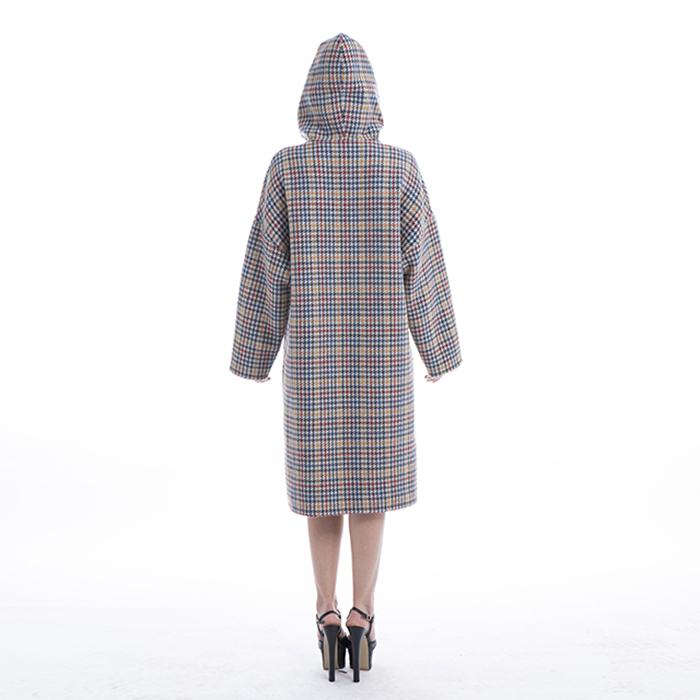 New Styles Coloured Checked Cashmere Coat