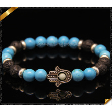 Handmade ювелирные изделия браслета руки Hamsa с бирюзой бисером (CB0108)