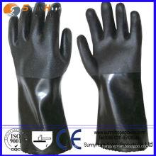 Anti-química proteção para as mãos luva de borracha industrial preta
