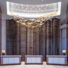 Lampe de lustre de salle de mariage d'intérieur de plafond de grand projet