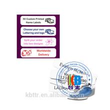 Étiquette de vêtement personnalisé d'étiquette de vêtements d'étiquette de vêtement d'étiquettes de nom personnalisées de fer
