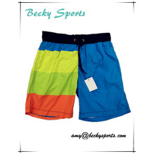 Hot Sale Children′s Swim Trunks Beachshorts with Contrast Color