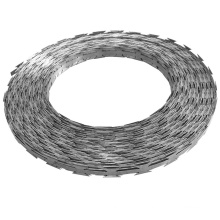 Hot Dipped Galvanized/Electro Galvanized /PVC Coated Razor Barbed Wire with Bwg 12/14/16
