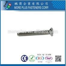Hecho en Taiwán M4 * 10 mm Clase 4.8 SUS 304 DIN963 con estrías Especial Cabeza de husillo roscado