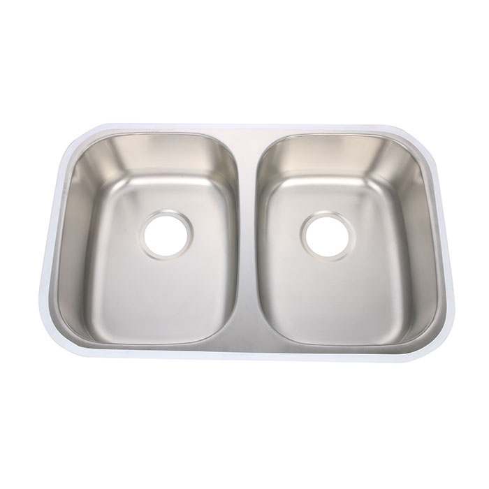 Offset Double Bowl Kitchen Sink