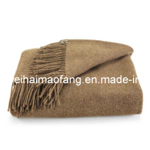 100%Cashmere Fringed Blanket