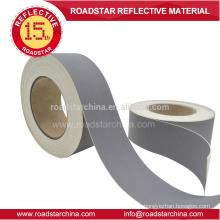 Farbe grau 0,8 mm Dicke reflektierende PVC Leder