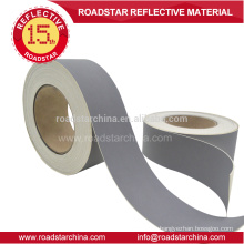 Grey color 0.8mm thickness reflective PVC leather