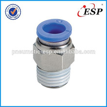 pneumatic fittings male straight PC connectors metal fittings with plastic sleeve