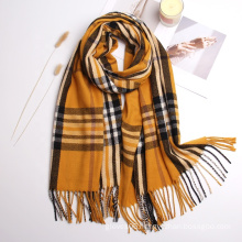 Hot Selling Couple Style Plaid Cashmere Shawls Scarf Women Winter Fashion Casual Warm Check Wraps Scarves