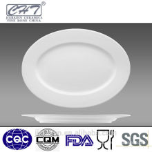 estaurant porcelain oval fish plate in different sizes