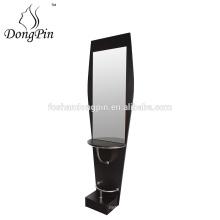 wooden hair salon single mirror station supplier