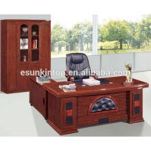 Escritorio de oficina de lujo con tapicería de cuero awsome, marca Esun (modelo T300)