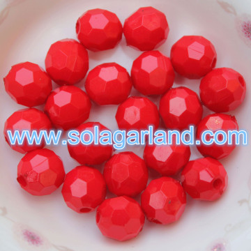 4-20MM Acryl Rond Ondoorzichtige Facet Beads