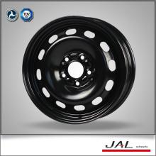 2016 hecho 15 pulgadas de acero negro Ruedas de la rueda de la rueda con 5 Lug