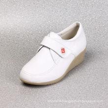 soft genuine leather women nurses uniform shoes
