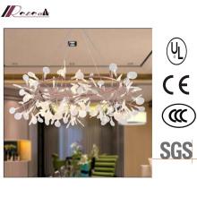 European Decorative White Acrylic Leaf Chandelier Light