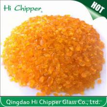 Chips en verre à l'orange broyé