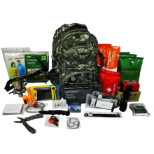 Wholesale outdoor military rucksack camping and emergency survival backpack kit with tools