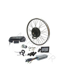 26inch 27.5inch 700C 48v 1500w rear wheel electric bike bicycle conversion kit with optional battery