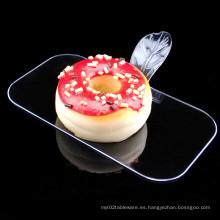 PP / PS Disco de plástico Desechable Saucer Rectangular Cake Shovel
