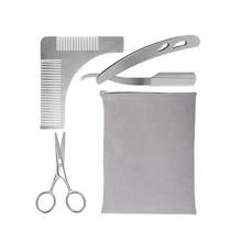 Barba de metal Amazon moldar kit pente com tesoura e navalha