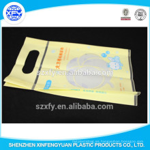 Paquete de embalaje de plástico de cierre inferior del pañal del bebé