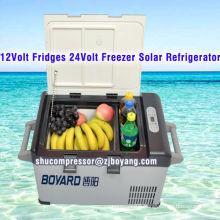 Hot sale DC 12V Fridges 24v Freezer Solar refrigerator 42L minibar battery powered mini refrigerator