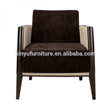 Durable brown fabric hotel arm chair XY2665