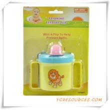 Childern Sichere Tragbare Baby Löffel Gabel Baby Geschirr 2015 Werbegeschenk für Baby Care Doppelgriff Saugnapf (HA78032)