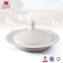 Wholesale dinnerware Porcelain white ceramic soup tureen with lid