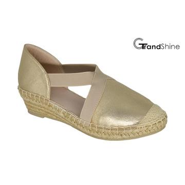 Women′s PU Espadrille Wedge Shoes